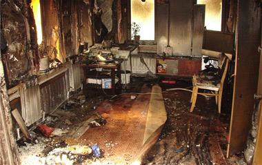 На Вагонке сгорели два частных дома