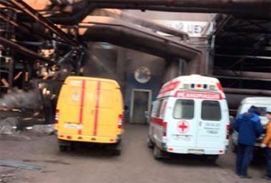 В результате обрушения в доменном цехе НТМК пострадали три человека