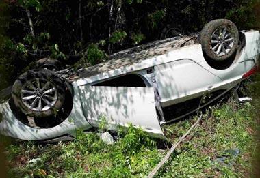 Под Нижним Тагилом а/м Hyundai Solaris улетел в кювет, пострадали два человека