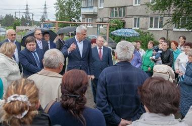 Сергей Носов побывал с объездом на Руднике и Смычке