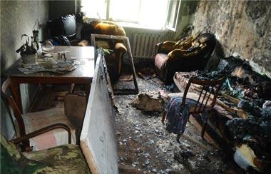 Два человека пострадали во время пожара на Первомайской