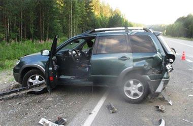 В районе Горноуральского столкнулись две иномарки, пострадали люди