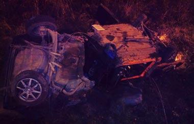 В районе Старателя ВАЗ-08 улетел в кювет, пострадали двое