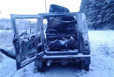 Экс-наркоман угнал и сжёг а/м УАЗ  в посёлке Черноисточинск