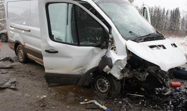 На Салдинском тракте в районе села Покровское погиб водитель а/м