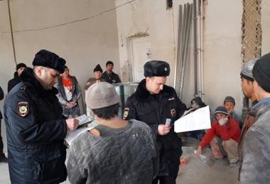 Полицейские Нижнего Тагила искали гастарбайтеров-нелегалов
