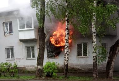 На Тагилстрое выгорела квартира на улице Малышева