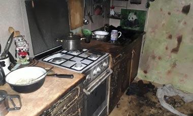 Во время пожара на ГГМ пострадал 40-летний мужчина