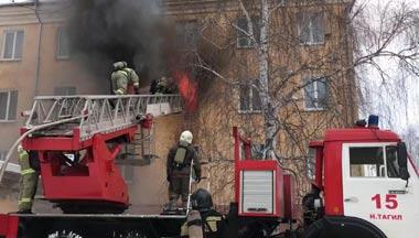Пожар в детском доме на Малой Кушве потушен в течение 40 минут, пострадавших нет