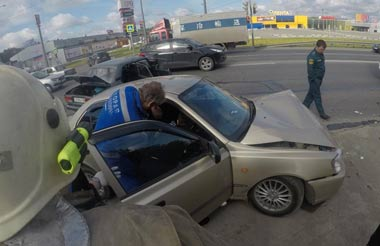 ДТП в районе ТРЦ DEPO: столкнулись ВАЗ-07 и Hyundai, пострадали 2 человека