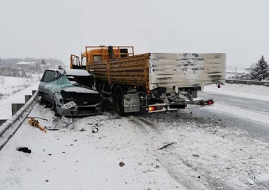 КамАЗ снёс две легковушки на трассе под Нижним Тагилом, погиб водитель кроссовера