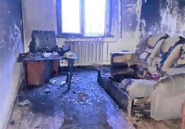 На Смычке во время пожара в 5-этажке погибла женщина